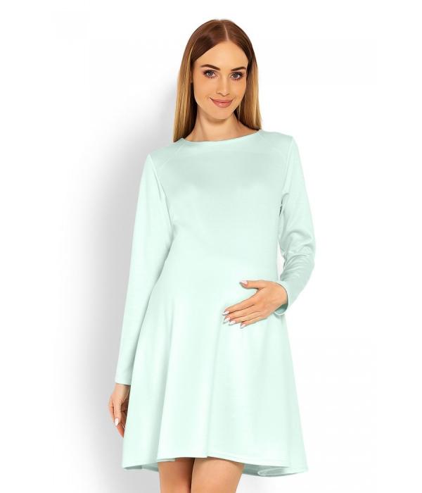 tenue de soirée femme enceinte couleur bleu pastel