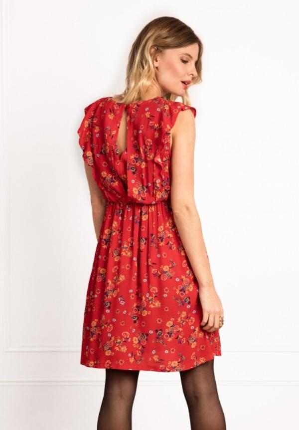 tenue de soirée femme enceinte couleur rouge