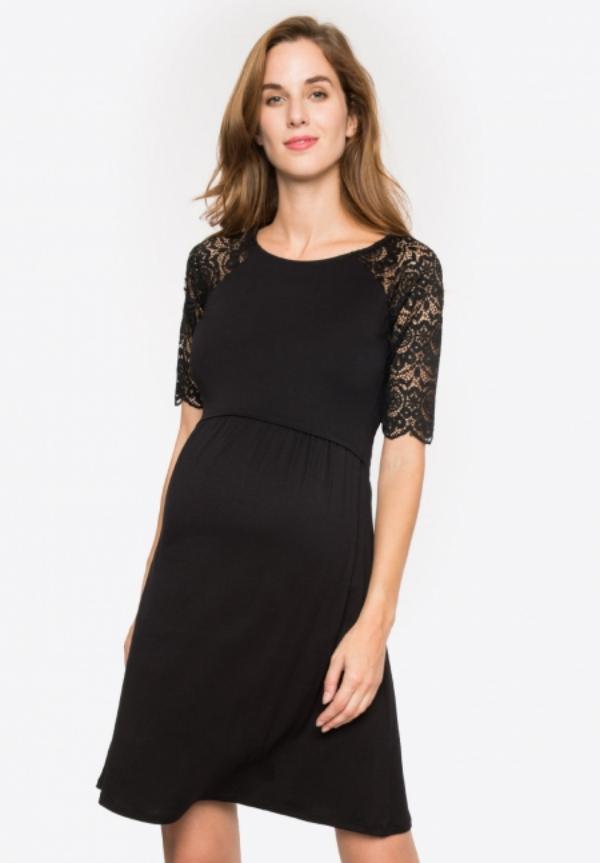 tenue de soirée femme enceinte en couleur noire