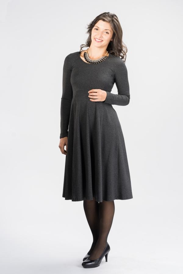 tenue de soirée femme enceinte gris anthracite