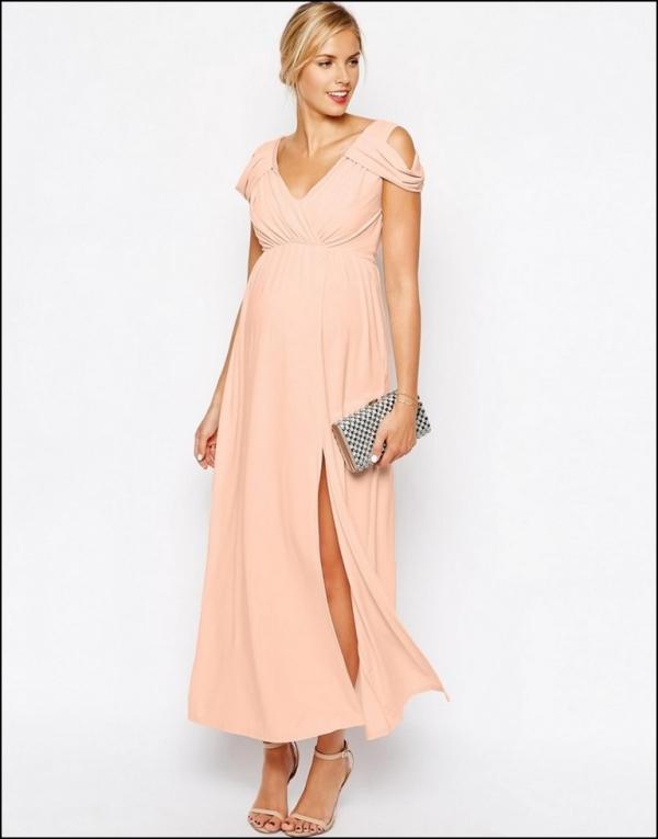tenue de soirée femme enceinte robe en rose pastel