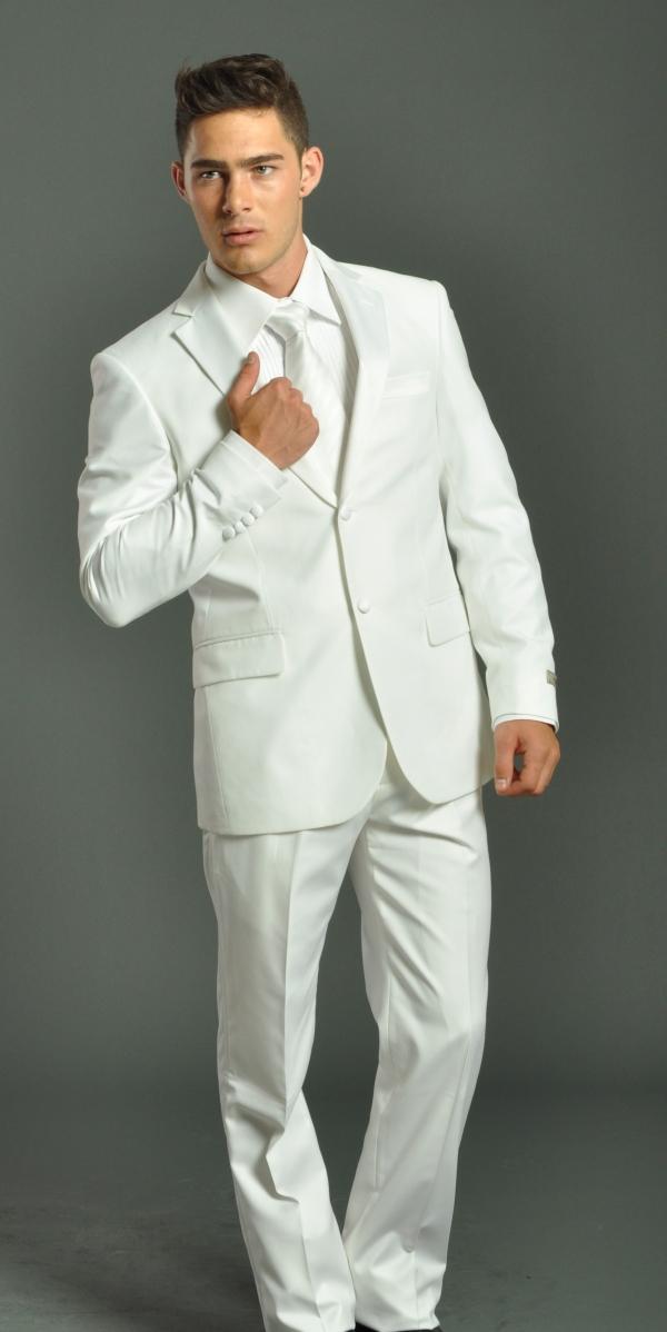 tenue de soirée homme bel ensemble en blanc