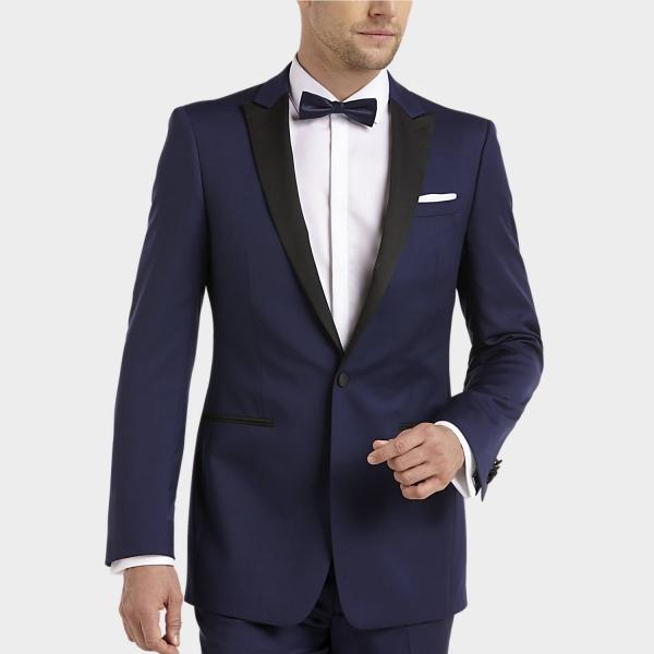 tenue de soirée homme bleu foncé