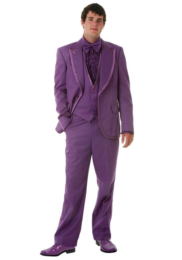 tenue de soirée homme ensemble en lilas