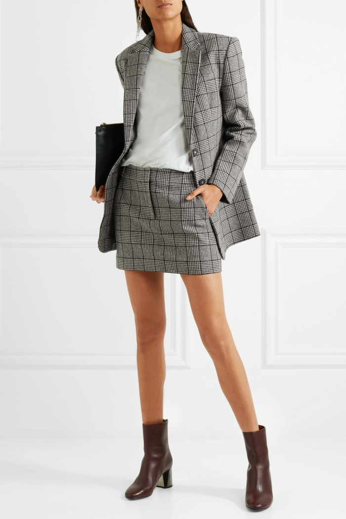version office veste carreaux femme