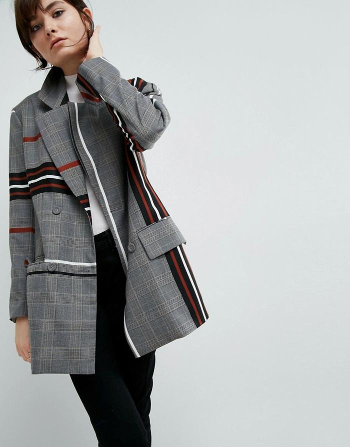 Veste a carreaux rouge – Vestes élégantes populaires