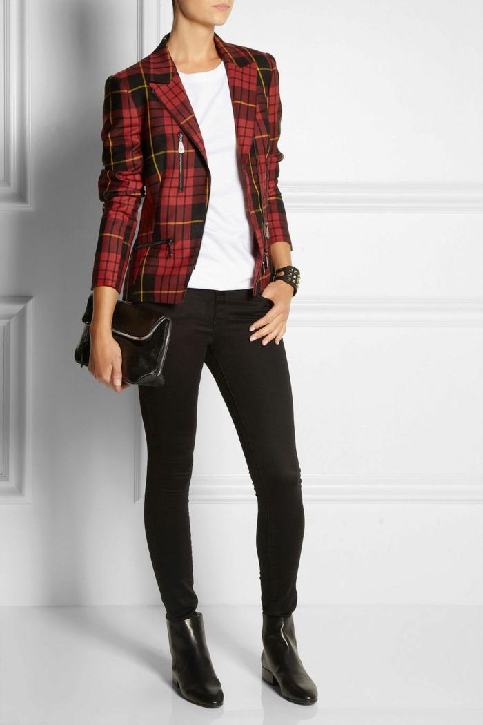 veste carreaux femme idée comment porter