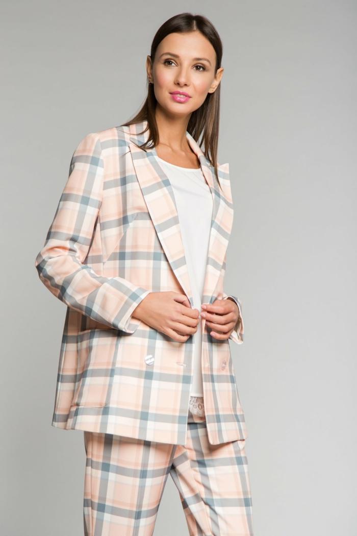 veste carreaux femme modèle printemps