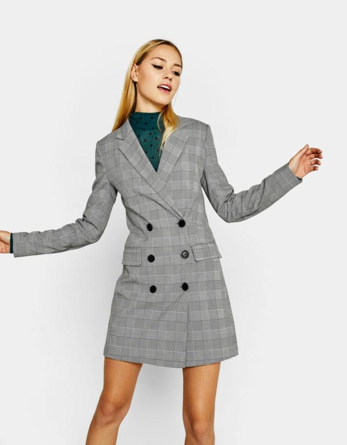 veste carreaux femme modèle robe