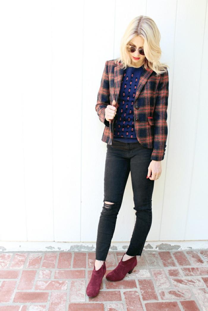 veste carreaux femme mode automne hiver