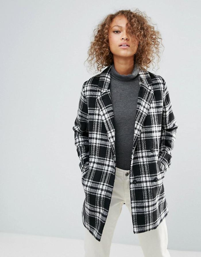 veste carreaux femme