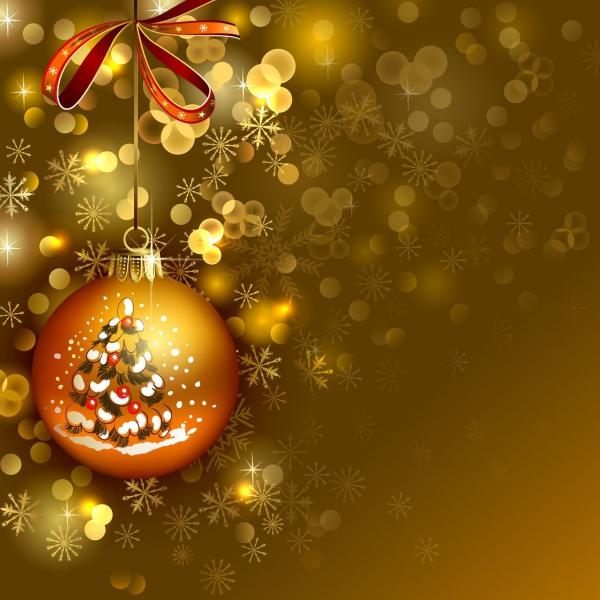 voeux de Noël éclats dorés