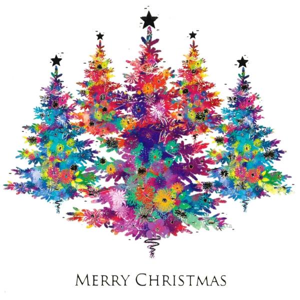 voeux de Noël brindille artificielle