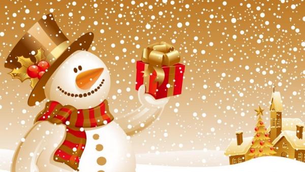 voeux de Noël couleur blanc et or