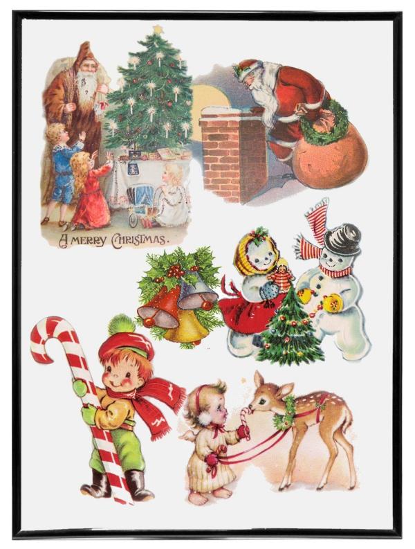 voeux de Noël enfants heureux