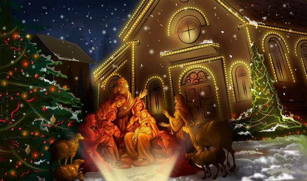 voeux de Noël la sainte famille
