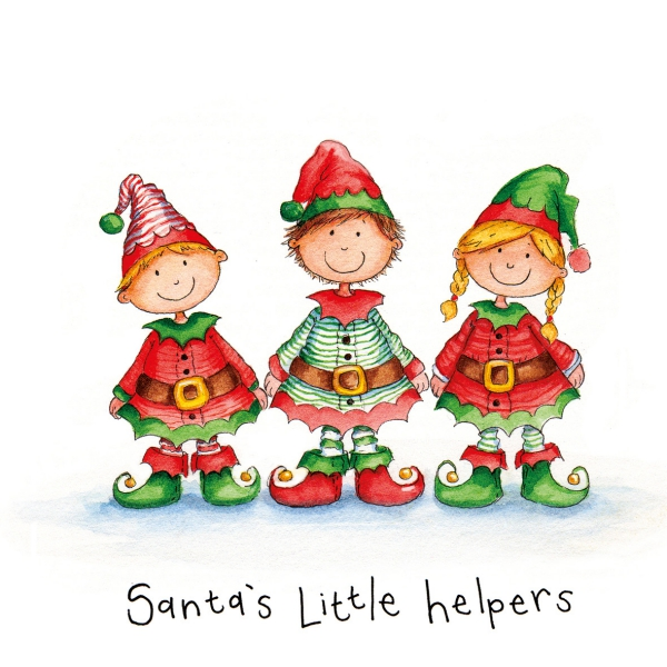 voeux de Noël lutins souriants