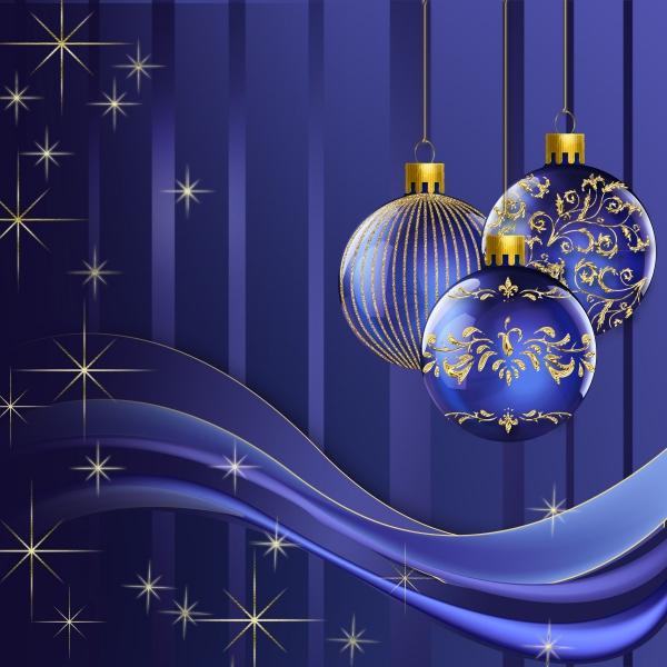 voeux de Noël nuances du bleu