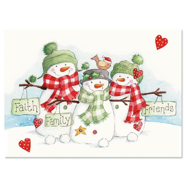 voeux de Noël trois symboles