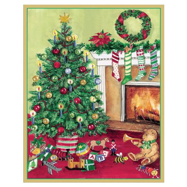 voeux de Noël un sapin décoré