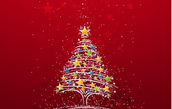 voeux de Noël un sapin déssiné