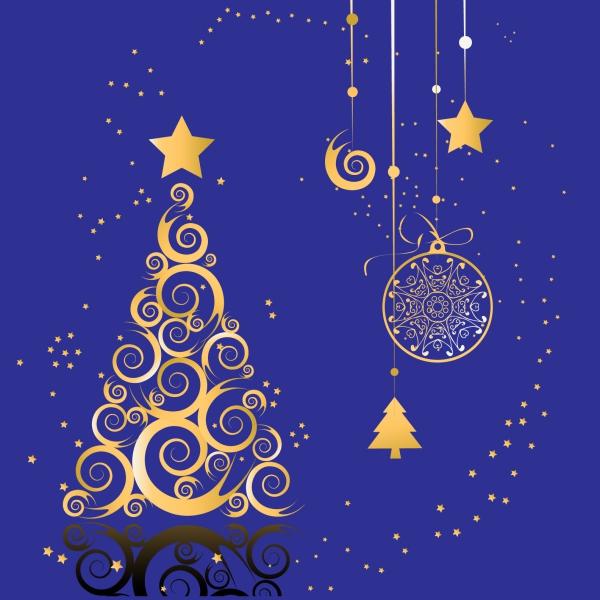 voeux de Noël une belle décoration