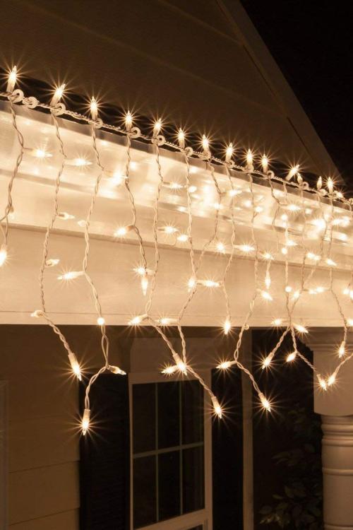 éclairage Noël extérieur ampoules électriques