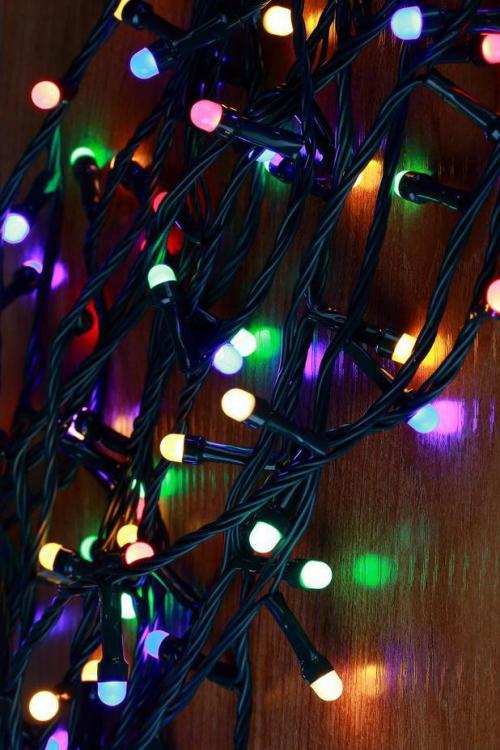 éclairage Noël extérieur ampoules multicolores