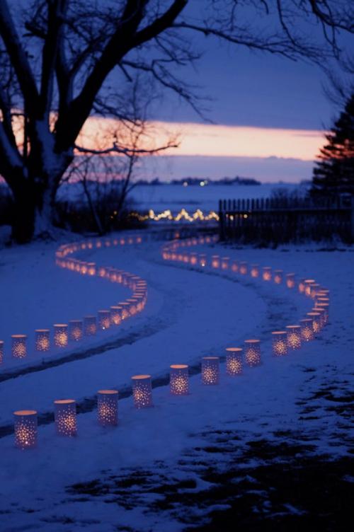 éclairage Noël extérieur bordures éclairées