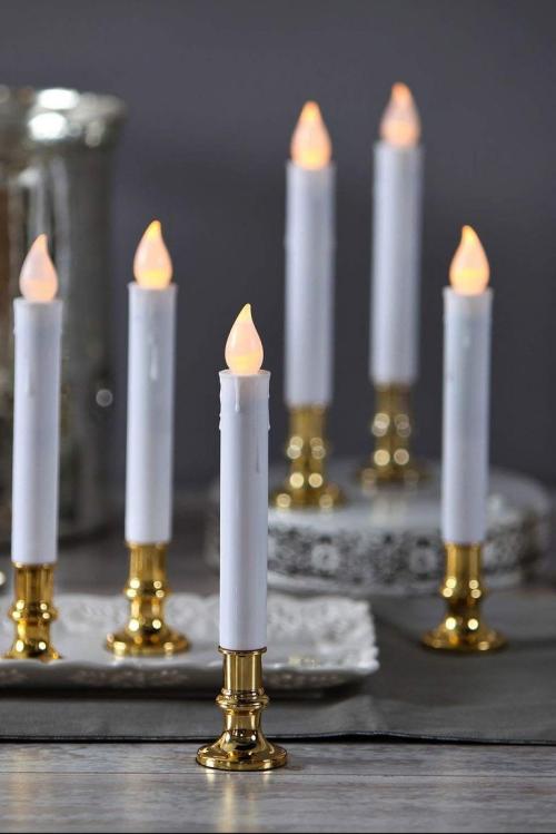 éclairage Noël extérieur bougies artificielles