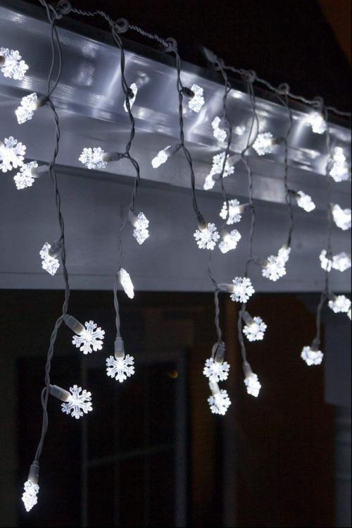 éclairage Noël extérieur lampes flocons de neige