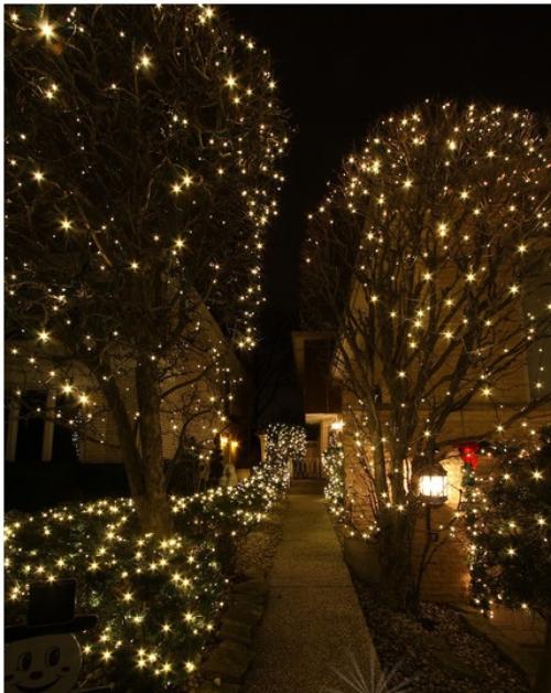 éclairage Noël extérieur patio éclairé