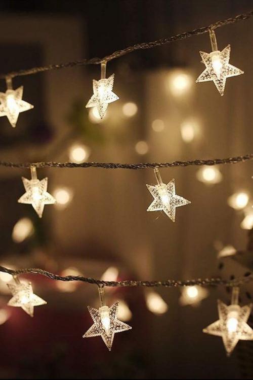 éclairage Noël extérieur petites étoiles luisantes