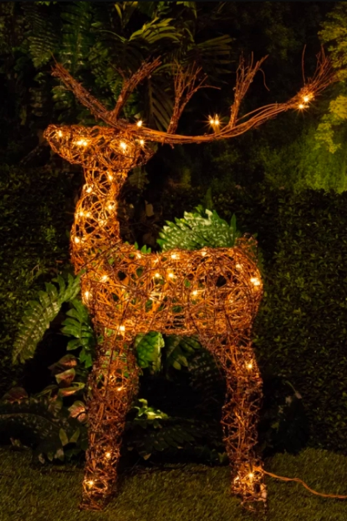 éclairage Noël extérieur squelette de renne