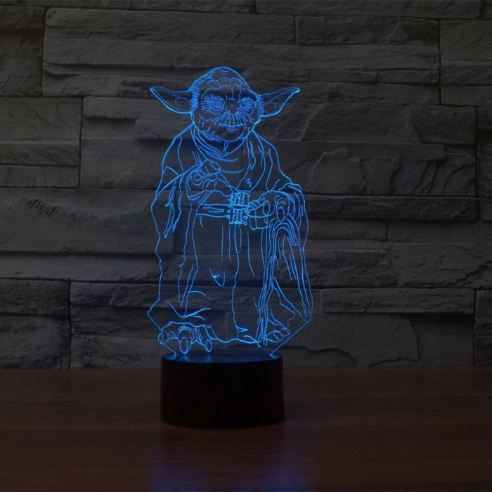 3d led lampe idée cadeau geek
