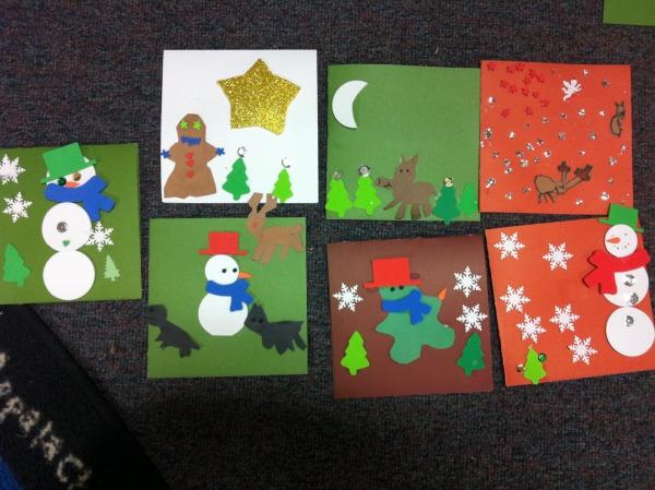 activité manuelle maternelle Noël cartes de voeux