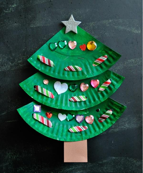 activité manuelle maternelle Noël des assiettes en papier
