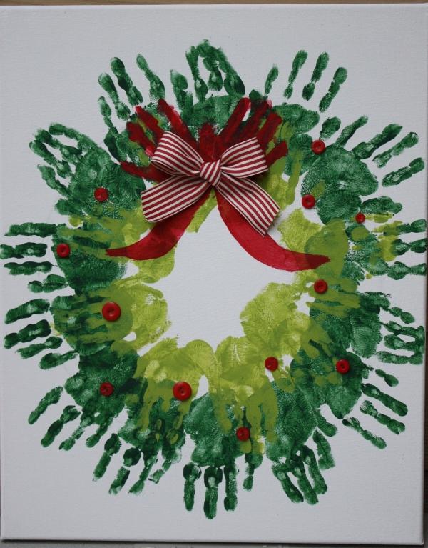 activité manuelle maternelle Noël deux nuances du vert