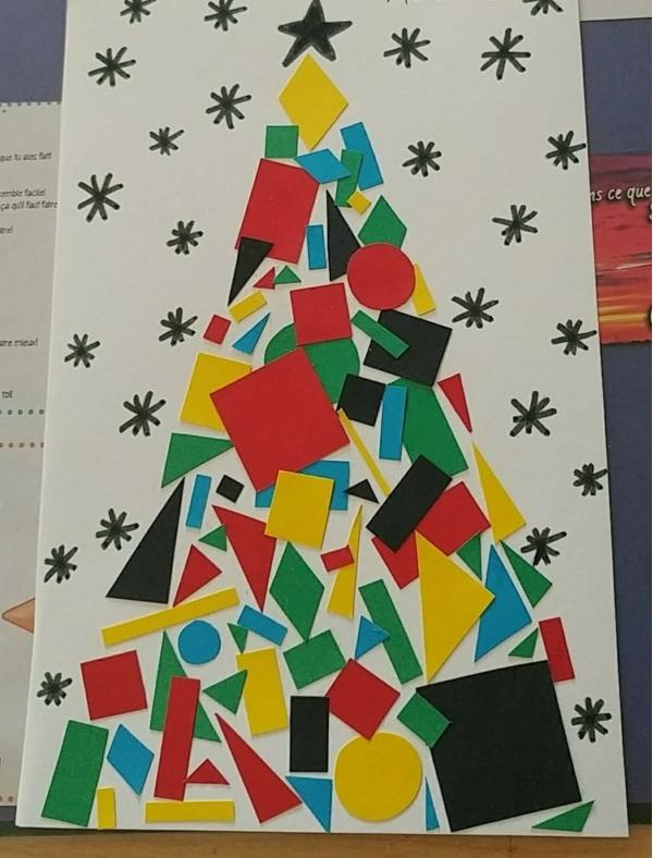 activité manuelle maternelle Noël figures géométriques