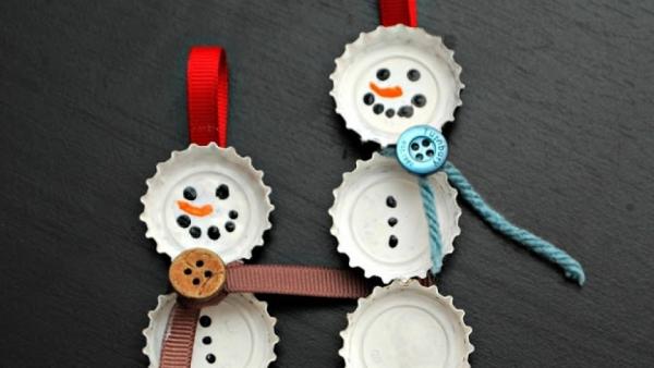 activité manuelle maternelle Noël ornements pour le sapin