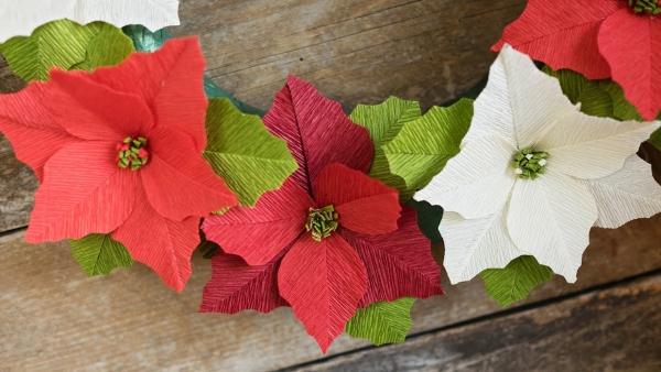 activité manuelle maternelle Noël poinsettia en papier