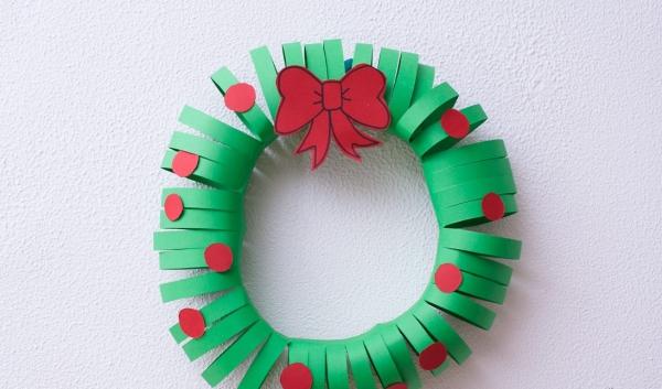 activité manuelle maternelle Noël rondelles en papier