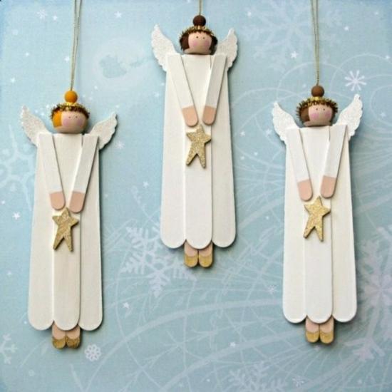 activité noël maternelle ange bâtonnets de glace