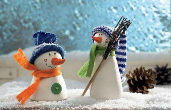 activité noël maternelle bonhomme de neige pâte à modeler