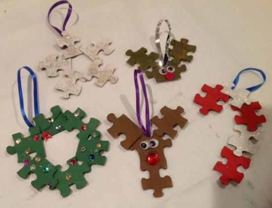 activité noël maternelle déco pièces de puzzle