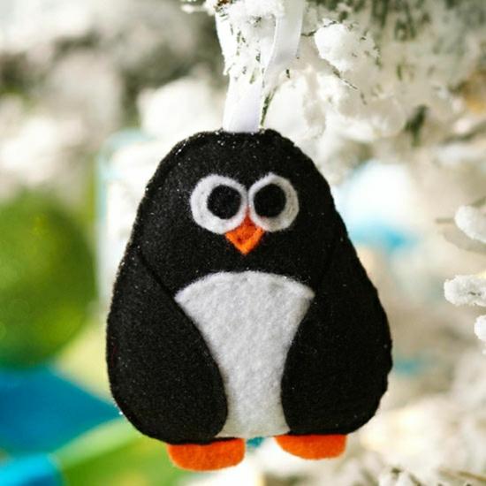 activité noël maternelle pingouin textile