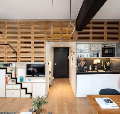 id es astucieuses pour am nager un petit appartement. Black Bedroom Furniture Sets. Home Design Ideas