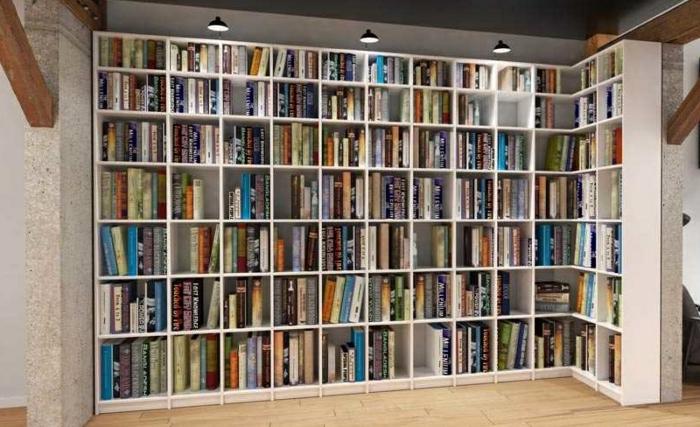 aménager un petit appartement bibliothèque d'angle
