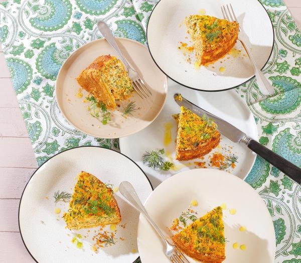 cake salé de Noël beaucoup de légumes