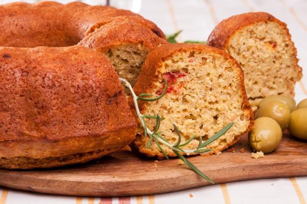 cake salé de Noël du romarin